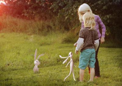 Barnen och kaninen